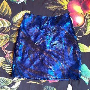 Sequin Bebe Miniskirt